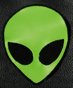 "Alien Head 3x3.5"" Embroidered Patch"