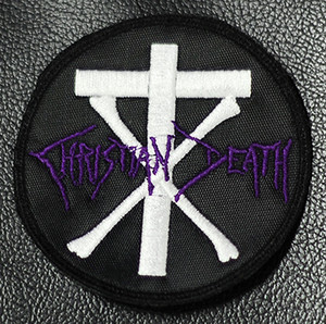 "Christian Death - Round Logo 3 1/4x3 1/4"" Embroidered Patch"