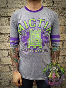 Mictia - Hotter Than Hell 3/4 Sleeve T-Shirt