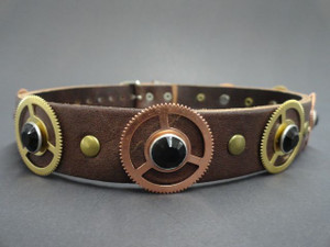 Steampunk Gears and Gems Choker Necklace