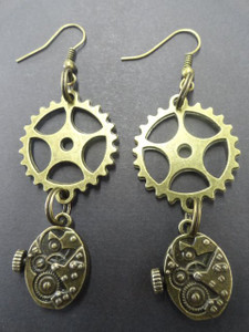 Clockwork Pendant Earrings