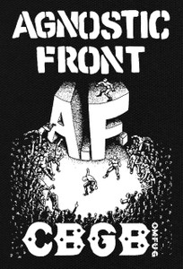 "Agnostic Front - C.B.G.B. 4.5X6.5"" Printed Patch"
