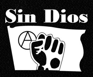 "Sin Dios - Bandera Negra 5x5"" Printed Patch"