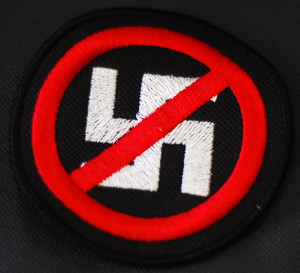 "Anti-Nazi - 3x3"" Embroidered Patch"