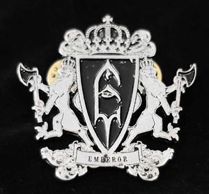 """Emperor - Coat of arms 2"""" Metal Badge Pin"""