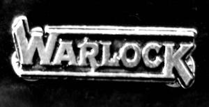 "Warlock - Logo 2"" Metal Badge Pin"