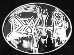 "Death - Logo 3.5"" Metal belt buckle"
