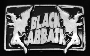 "Black Sabbath - Demons 4"" Metal belt buckle"