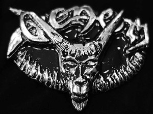 "Venom - Goat 4"" Metal belt buckle"
