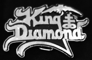 "King Diamond - Logo 3.5"" Metal belt buckle"