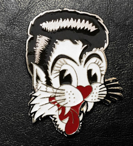 "Stray Cats - Cat 3.5"" Belt Buckle"