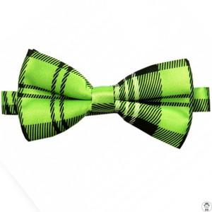 Lime Green Tartan Bow Tie