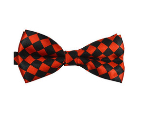 Red and Black Diamond Pattern Bow Tie