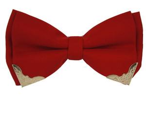 Red Pre-Tied Viscose Western Bow Tie