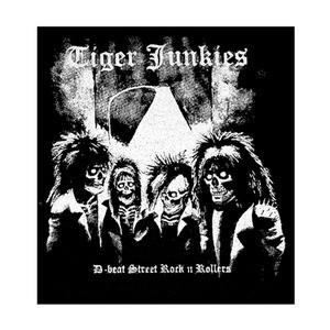 "Tiger Junkies - D-Beat Street Tock n Rollers 6x6"" Printed Patch"