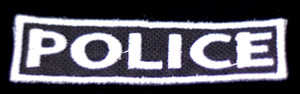 "Police Badge 3x1"" Embroidered Patch"