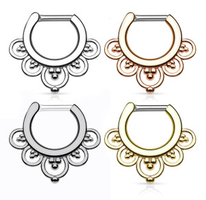 Flower Petal Fan Septum Clicker