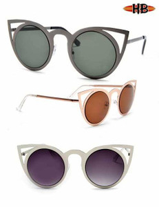 Round Cut-Out Cateye Sunglasses