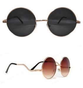 Oversized Round Gold Frame Sunglasses