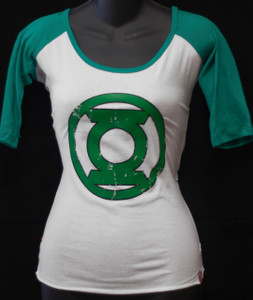 Green Lantern Logo 3/4 Sleeve Girls T-Shirt