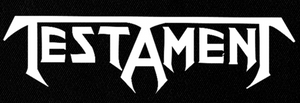 "Testament -  Logo 9x4"" Printed Patch"