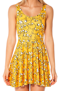 Jake the Dog Collage Skater Dress