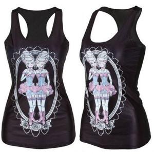 Burlesque Twins Tank Top