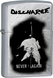 Discharge - Never Again Chrome Lighter