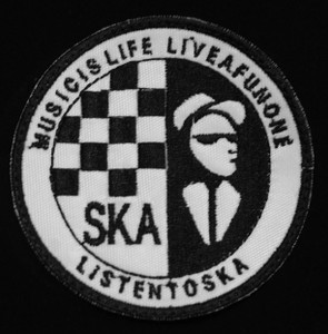 "Ska - Listen to..  3"" Embroidered Patch"