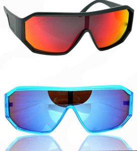 Futuristic Oversized Safety-Style Sunglasses