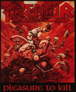 "Kreator - Pleasure to Kill 4x4.8"" Color Patch"