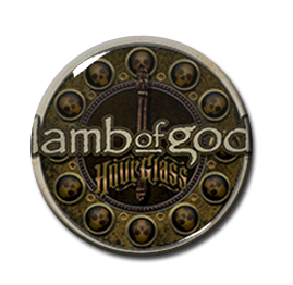 "Lamb of God - Hourglass 1"" Pin"