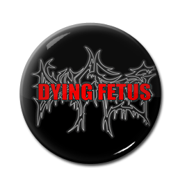"Dying Fetus - Red Logo 1"" Pin"