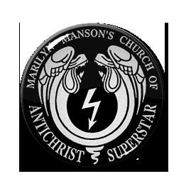 "Marilyn Manson's Church of Antichrist Superstar 1"" Pin"