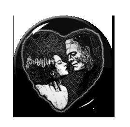"Bride of Frankenstein's Monster Love Hearth 1.5"" Pin"