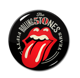 "The Rolling Stones - 50 Years 1"" Pin"