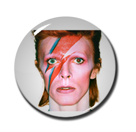 """David Bowie - Aladdin Sane 1"""" Pin"""