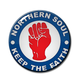 "Northern Soul - Keep the Faith 1"" Pin"