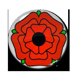"""Lancashire Rose 1"""" Pin"""