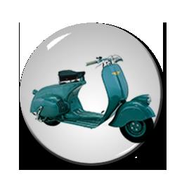 "Blue Vespa 1"" Pin"