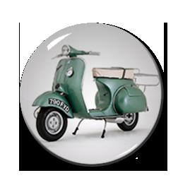 """Green Vespa 1"""" Pin"""