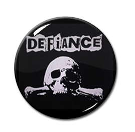 """Defiance - Skull & Bones 1.5"""" Pin"""