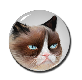 """Grumpy Cat 1.5"""" Pin"""