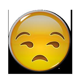 "Unamused Face Emoji 1.5"" Pin"