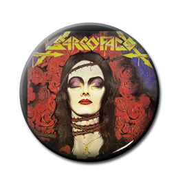 "Sarcofago - The Laws of Scourge 1"" Pin"