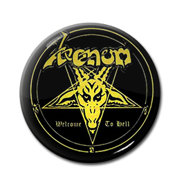 "Venom - Welcome to Hell 1"" Pin"