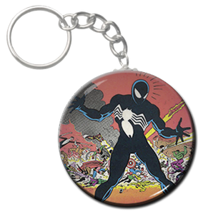 """Spiderman - Black Suit 1.5"""" Keychain"""