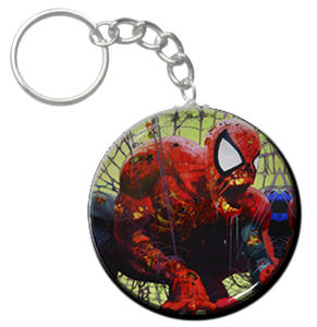 """Zombie Spiderman - Cobweb 2.25"""" Keychain"""