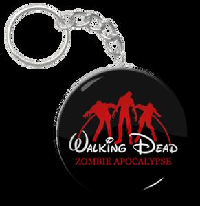 "The Walking Dead - Zombie Apocalypse 1.5"" Keychain"