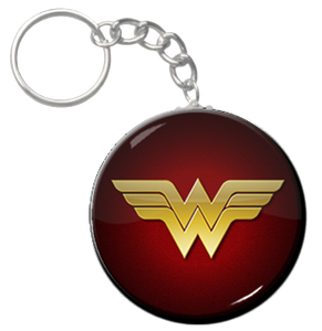 "Wonder Woman Logo 2.25"" Keychain"